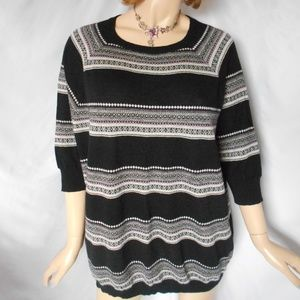 Nwt $330 AUTUMN CASHMERE Black Combo Top Sweater